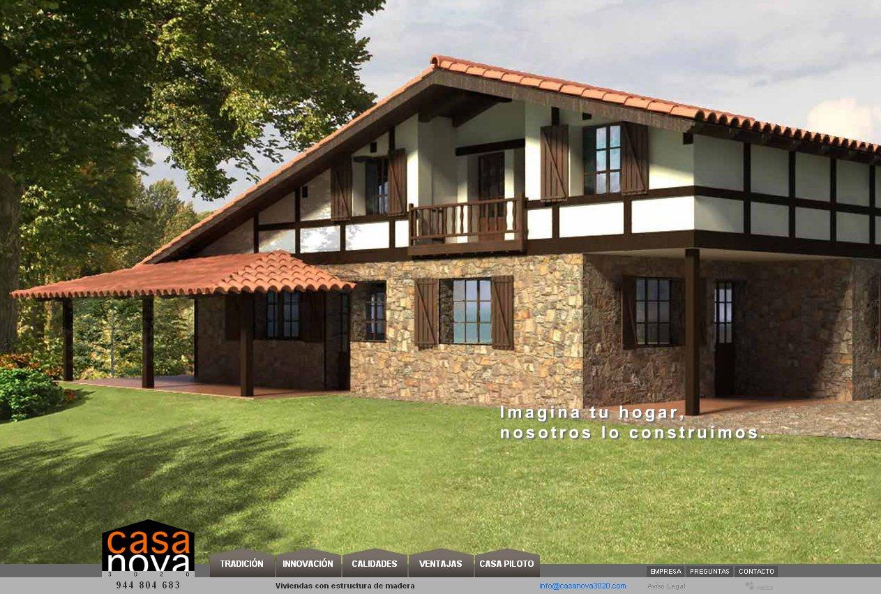 Veiss lanza la web de casa nova 3020 casas con estructura de madera dise o web y marketing - Casas estructura de madera ...