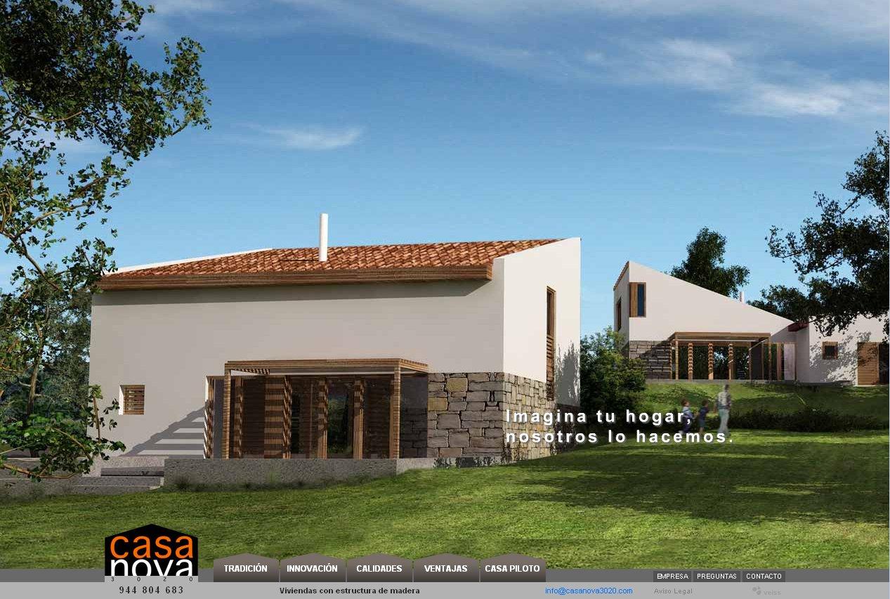 Veiss lanza la web de casa nova 3020 casas con estructura for Casa online