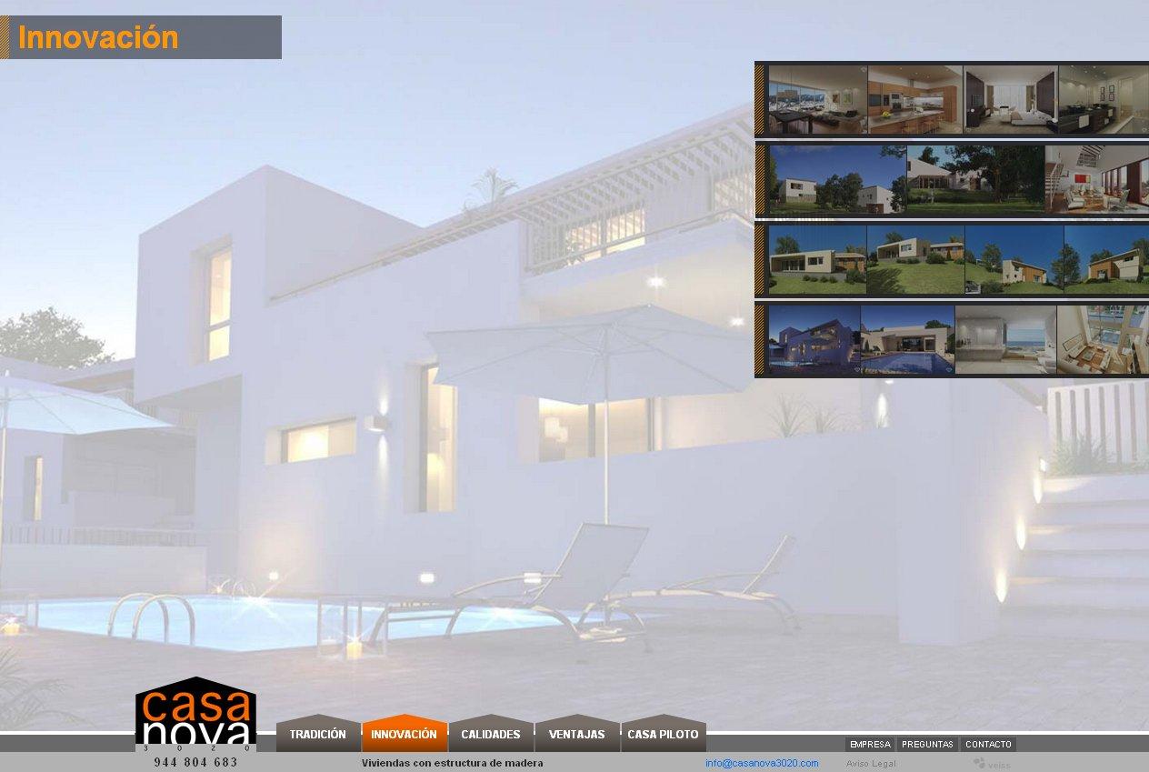 Veiss lanza la web de casa nova 3020 casas con estructura for Diseno de casas online