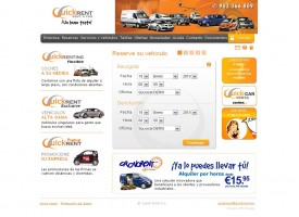 Página web de Quickrent