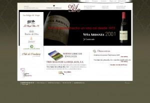 Web de Bodegas La Rioja Alta