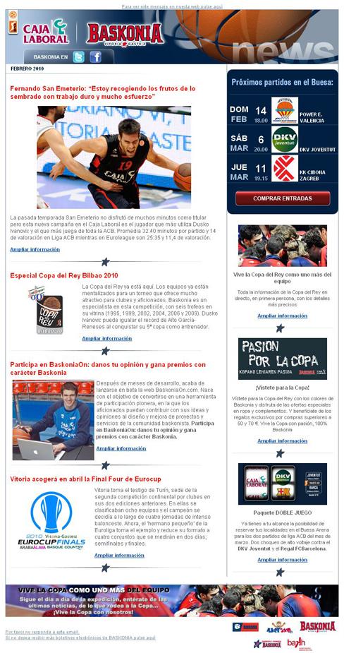Boletín Electrónico del Baskonia