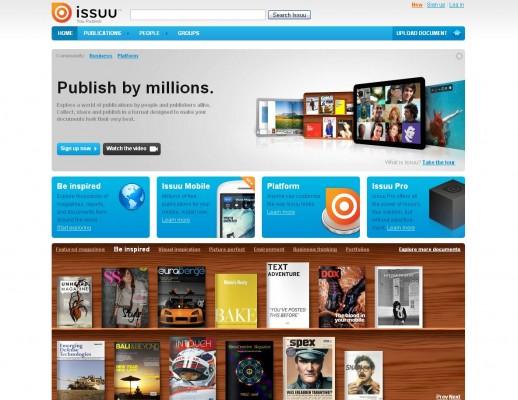 Publicaciones digitales elegantes con ISSUU