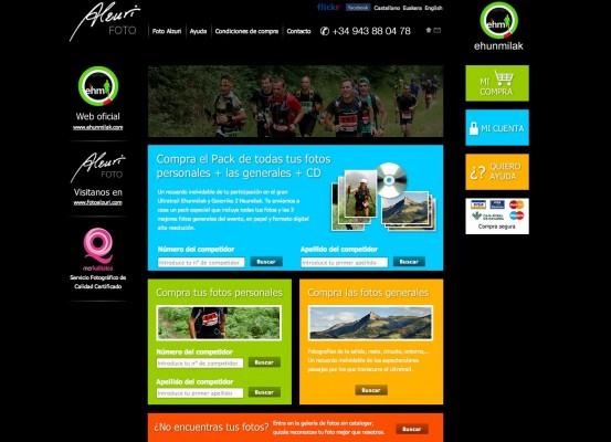 Página web de Fotos Ehunmilak