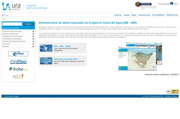 Web URA (Agencia Vasca del Agua)