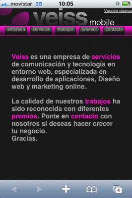 Versión móvil de Veiss