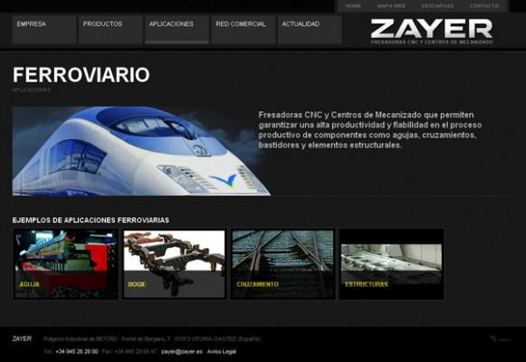 Ejemplo de aplicación de Zayer para el sector Ferroviario