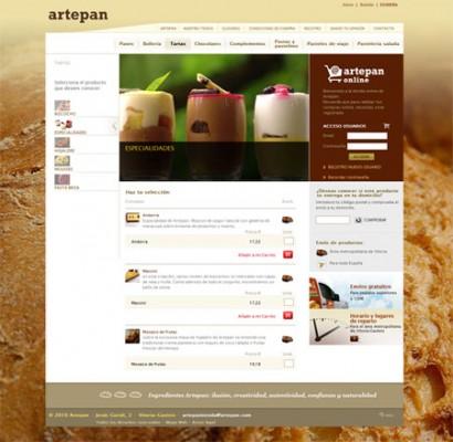 Proceso de compra en Tienda Online Artepan