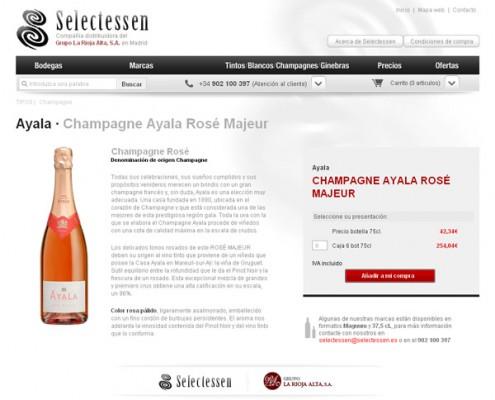 Botella de champagne Tienda Online Selectessen
