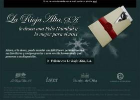 Felicitación navideña La Rioja Alta S.A.