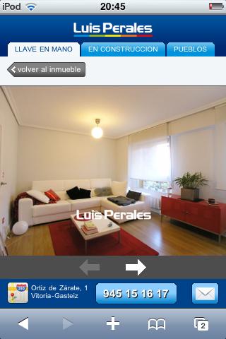 Foto de un inmueble en la versión móvil de Inmobiliaria Luis Perales