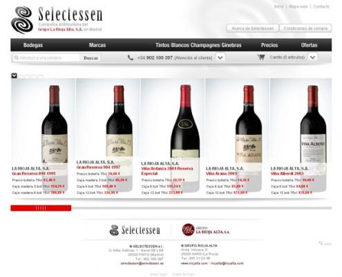 Sitio Web comercio electrónico Selectessen