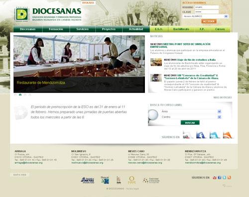 Home del Sitio Web de Diocesanas