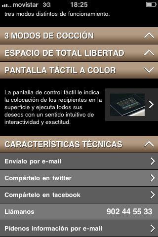 Versión móvil del Sitio Web de De Dietrich