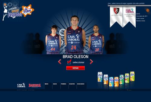 Elige mejor jugador del concurso Baskonia Mejor Jugador Bifrutas