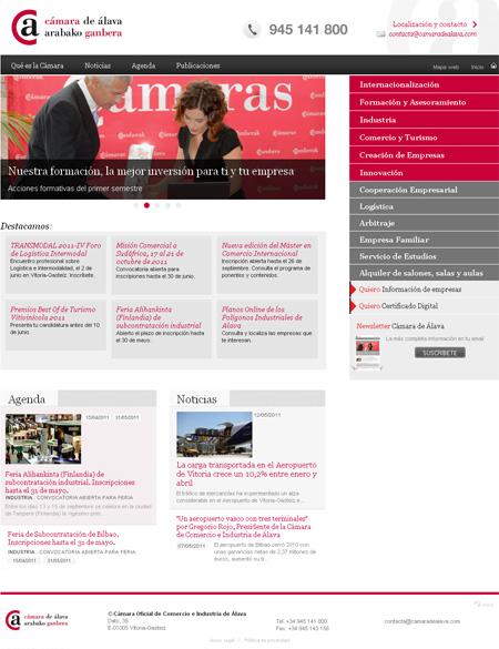 Página Web de la Cámara de Comercio de Álava