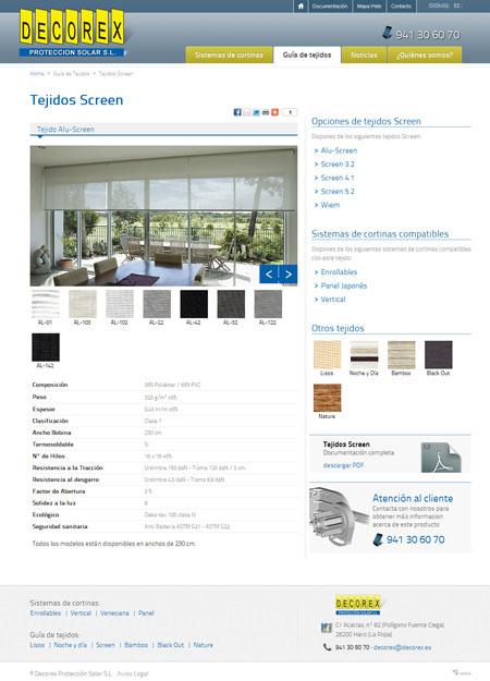 Página web de tejidos para cortinas Decorex