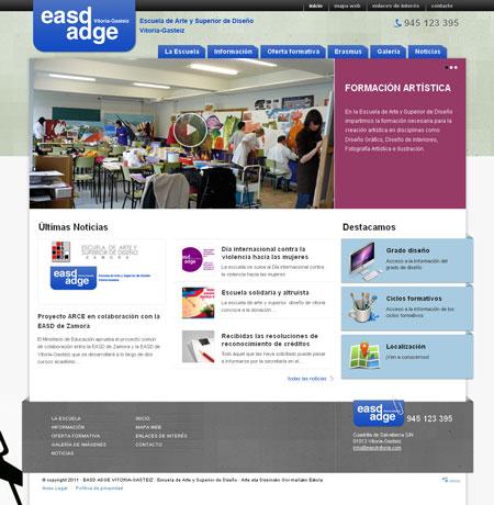 Home del Sitio Web de EASD Vitoria