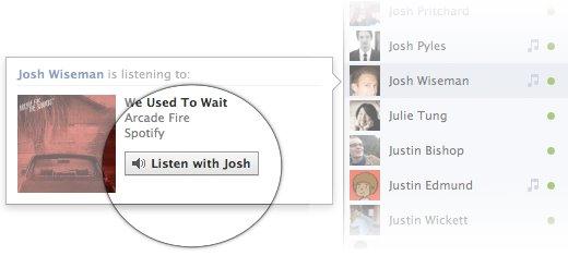 Herramienta para escuchar música de Facebook