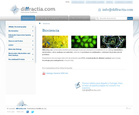 Catálogo de productos de Diffractia