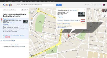 Búsqueda en Google Maps