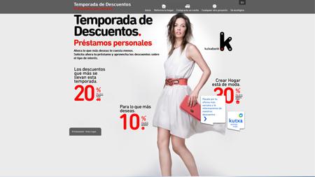 Microsite de Kutxabank