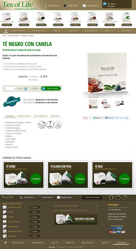 Ficha de producto de Tea of Life