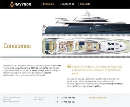 Página de empresa de Navynor