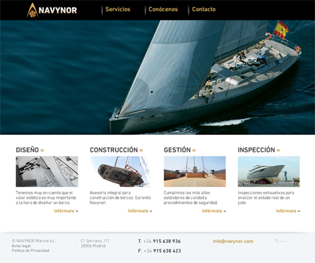 Página home Navynor