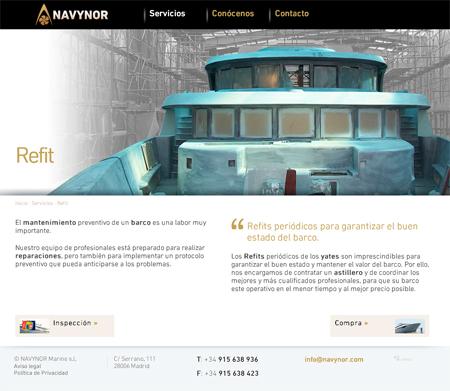 Servicio de refit de Navynor