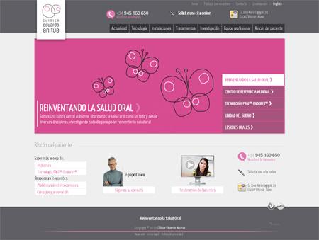 Página principal de la web de la clínica Eduardo Anitua