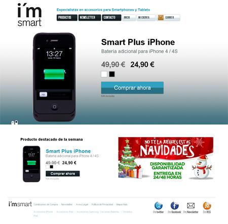 página principal de Im Smart accesorios para Smartphones y Tablet