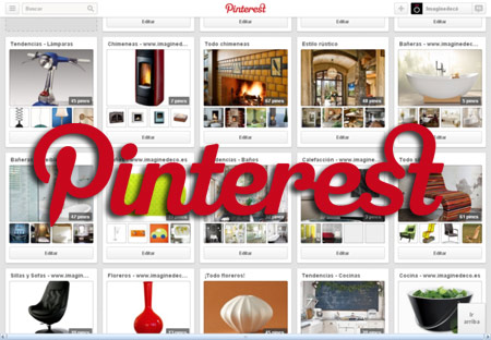Pinterest logo dashboard