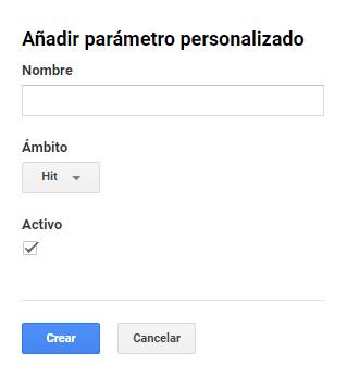 Dimensiones personalizadas Google Analytics